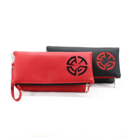 ATG Productions Vegan Foldover Clutch/Crossbody Bag (Multicolored)