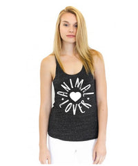Cykochik Animal Lover women's tri-blend racerback tank top - front