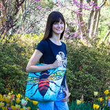 Model Cykochik X Art Con Apis Bee Eco-Canvas Vegan Tote bag by artist Monica Moody