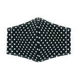 """Black and White Dots"" Adjustable Fabric Face Mask"