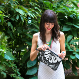 """Botanica"" Vegan Clutch/Crossbody Bag Design by Dallas Artist Jody Pham (Multicolored )"