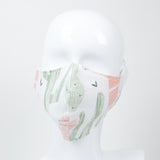 """Brushed Cacti"" Adjustable Fabric Face Mask"