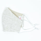 """Brushed Canvas"" Adjustable Fabric Face Mask"