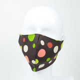 """Chocolate Sorbet"" Adjustable Fabric Face Mask"