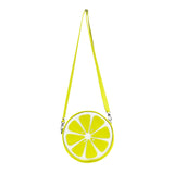 "Front Multicolored Cykochik ""Citrus"" Lime Fruit Slice Vegan Crossbody bag"