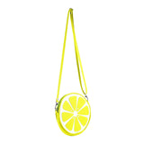 "Side Multicolored Cykochik ""Citrus""Lime Fruit Slice Vegan Crossbody bag"