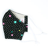 """Cosmic Dots"" Adjustable Fabric Face Mask"