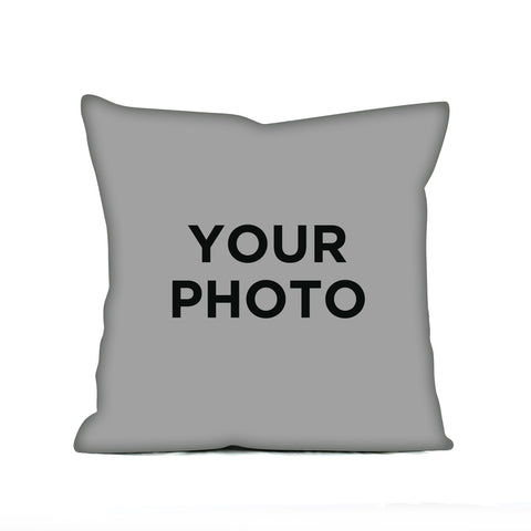 Cykochik Custom Photo eco-friendly vegan throw pillow - Front