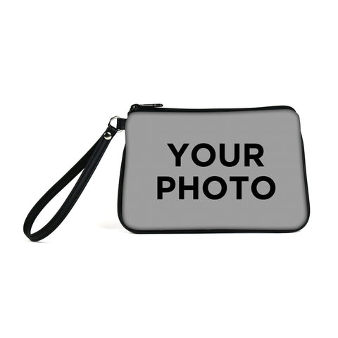 Custom Photo Eco Canvas Vegan Wristlet/Crossbody Bag (Multicolored)