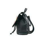 "Cykochik ""Custom Photo"" black eco-friendly vegan drawstring backpack purse - Side"