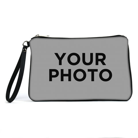 Custom Photo Eco Canvas Vegan Clutch/Crossbody Bag (Multicolored)