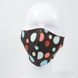 """Dark Chocolate Sorbet"" Adjustable Fabric Face Mask"