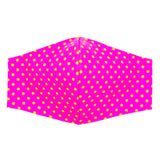 """Hot Pink and Chartreuse Dots"" Adjustable Fabric Face Mask"