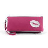 Kiss Vegan Foldover Clutch/Crossbody Bag (Multicolored)