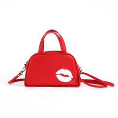 Kiss Vegan Mini Bowler/Crossbody Bag (Multicolored)
