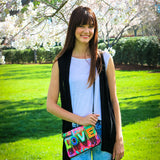 Cykochik Love Graffiti eco friendly recycled plastic canvas vegan clutch/crossbody bag - model 2