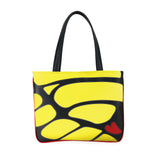 Front black and yellow Cykochik custom Monarch butterfly applique eco-friendly vegan tote bag