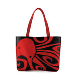 """Ocho"" Octopus Vegan Flat Tote Design by Berkeley Artist Michelle White (Multicolored )"