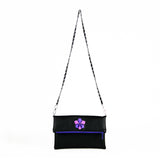 Orchid Giving Circle Vegan Foldover Clutch/Crossbody Bag