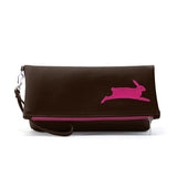 PETA Bunny Vegan Foldover Clutch/Crossbody Bag (Multicolored)