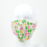 """Painted Ellipse"" Adjustable Fabric Face Mask"