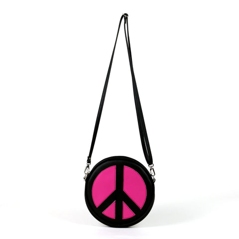 Cykochik Peace vegan crossbody clutch bag - front