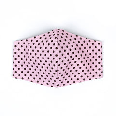 """Pretty in Pink and Brown Dots"" Adjustable Fabric Face Mask"
