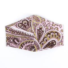 """Pretty in Pink Paisley"" Adjustable Fabric Face Mask"