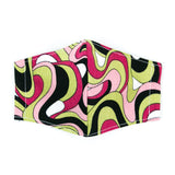 """Retro Swirl"" Adjustable Fabric Face Mask"