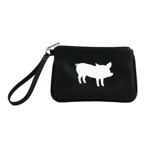 The Humane League Vegan Wristlet/Crossbody Bag (Multicolored)