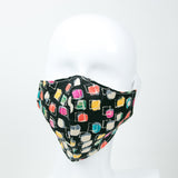 """Watercolor Weave"" Adjustable Fabric Face Mask"