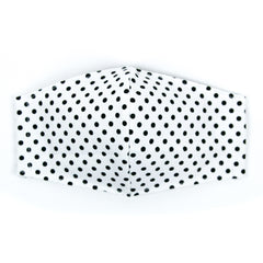"""White and Black Dots"" Adjustable Fabric Face Mask"