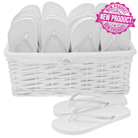 glitz flip flop wedding basket