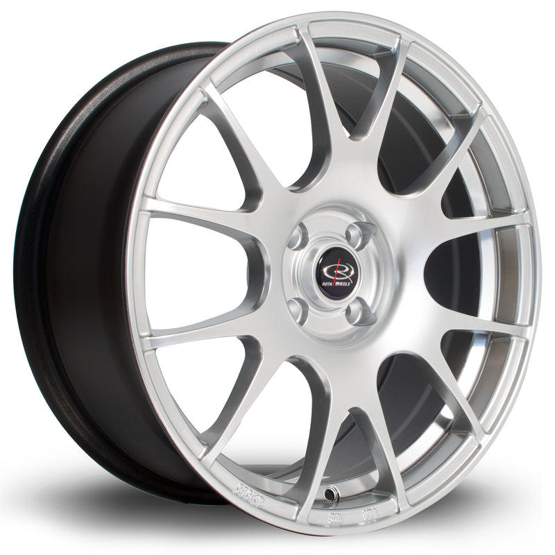 Rota Blitz, 17 x 7.5 inch, 4100 PCD, ET35 in Hyper Silver Single Rim - Rotashop