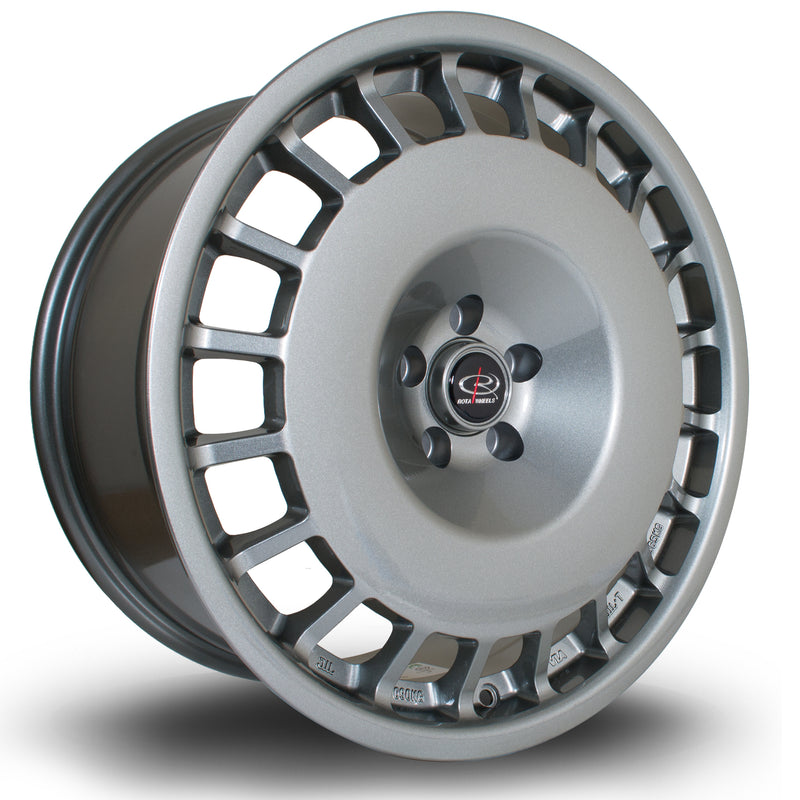 Rota D154, 18 x 8.5 inch, 5100 PCD, ET30 in Steelgrey Single Rim - Rotashop