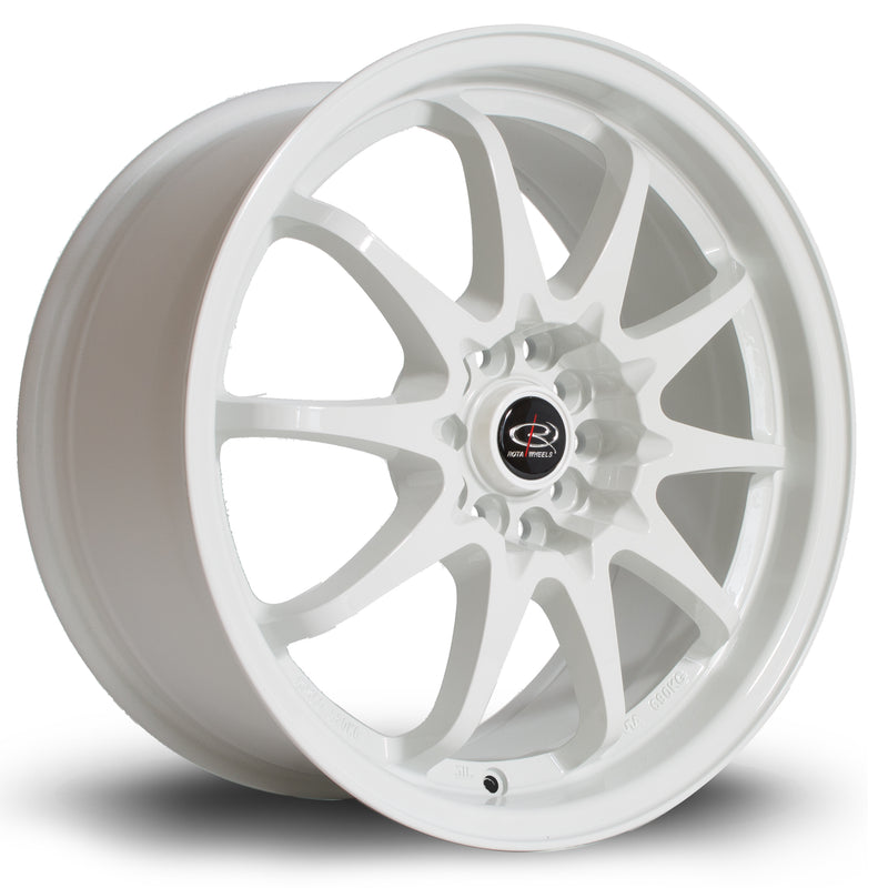 Rota Fight, 17 x 8 inch, 5100~5114 PCD, ET48 White - Rotashop