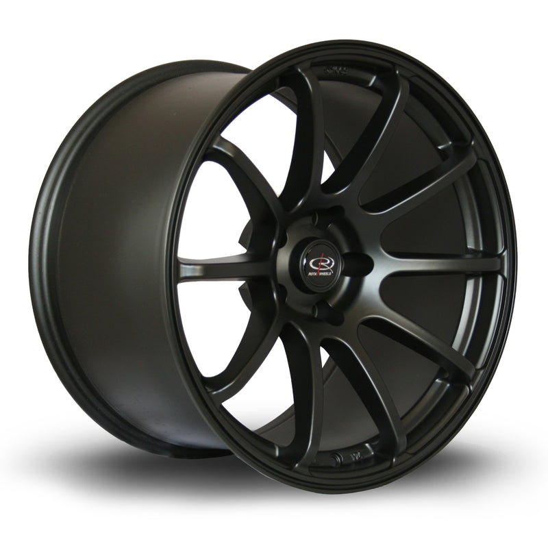 Rota Force, 18 x 10.5 inch, 5114 PCD, ET20 Flat Black - Rotashop