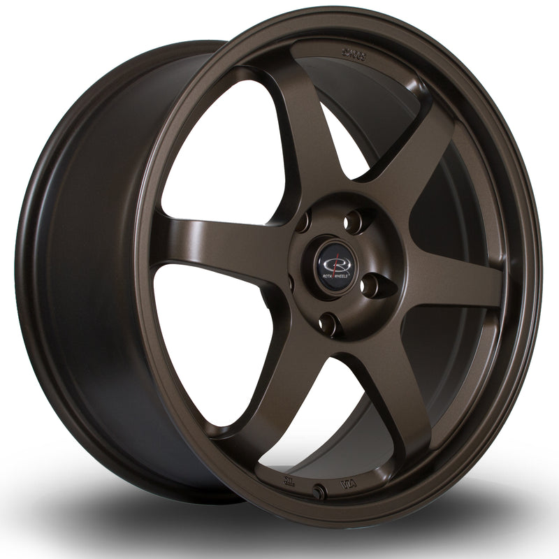 Rota Grid, 19 x 8.5 inch, 5120 PCD, ET48 Matt Bronze Variant 3 Civic Type R Only - Rotashop