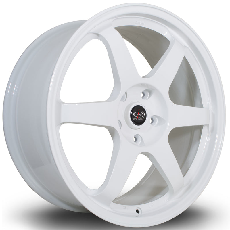 Rota Grid, 19 x 8.5 inch, 5120 PCD, ET48 White Civic Type R Only - Rotashop