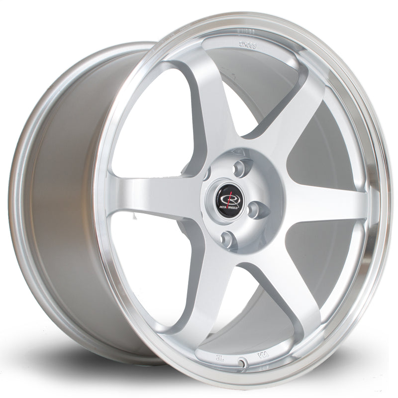 Rota Grid, 19 x 9.5 inch, 5114 PCD, ET20 Silver with Polished Lip - Rotashop