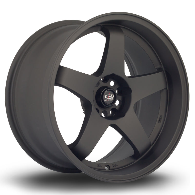 Rota GTR-D, 18 x 10 inch, 5114 PCD, ET12 in Flat Black Variant 2 Single Rim - Rotashop