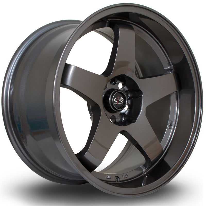 Rota GTR-D, 18 x 10 inch, 5114 PCD, ET35 in Gunmetal Single Rim - Rotashop