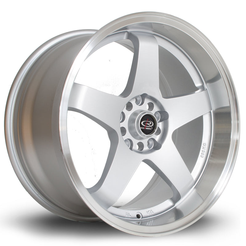 Rota GTR-D, 18 x 10 inch, 5114 PCD, ET35 in Silver with Polished Lip Single Rim - Rotashop