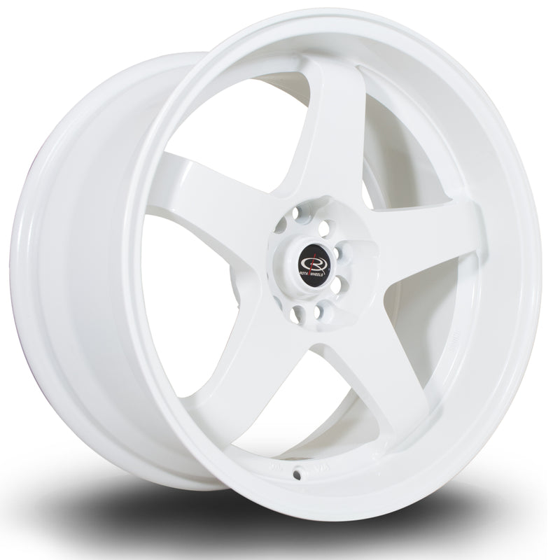 Rota GTR-D, 18 x 10 inch, 5114 PCD, ET35 in White Single Rim - Rotashop