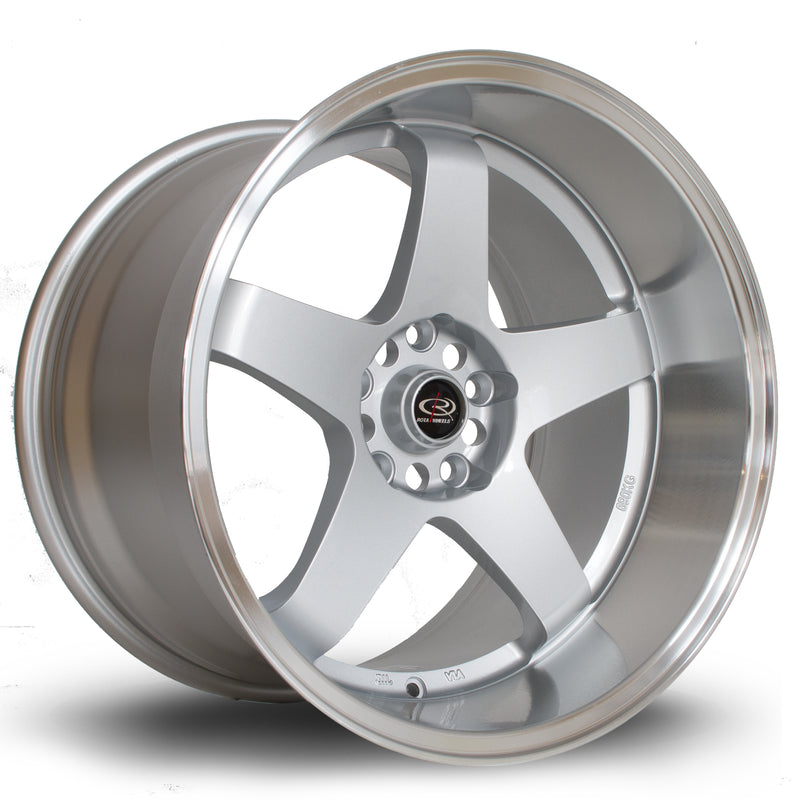 Rota GTR-D, 18 x 12 inch, 5114 PCD, ET20 in Silver with Polished Lip Single Rim