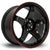 Rota GTR, 17 x 9.5 inch, 5114 PCD, ET12 Black Red Lip