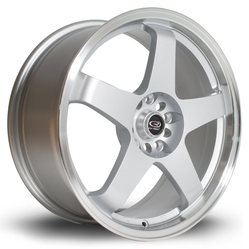 Rota GTR, 18 x 8.5 inch, 5114 PCD, ET35 Silver with Polished Lip - Rotashop
