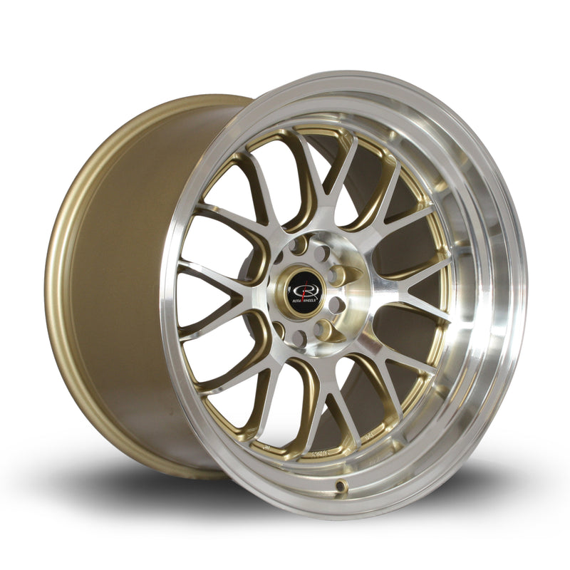 Rota MXR, 18 x 11 inch, 5114 PCD, ET8 Gold with Polished Face - Rotashop