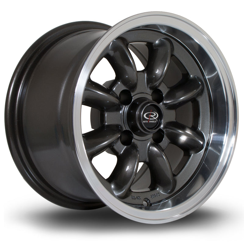 Rota RB, 13 x 8 inch, 4100 PCD, ET4 Gunmetal Polished Lip - Rotashop
