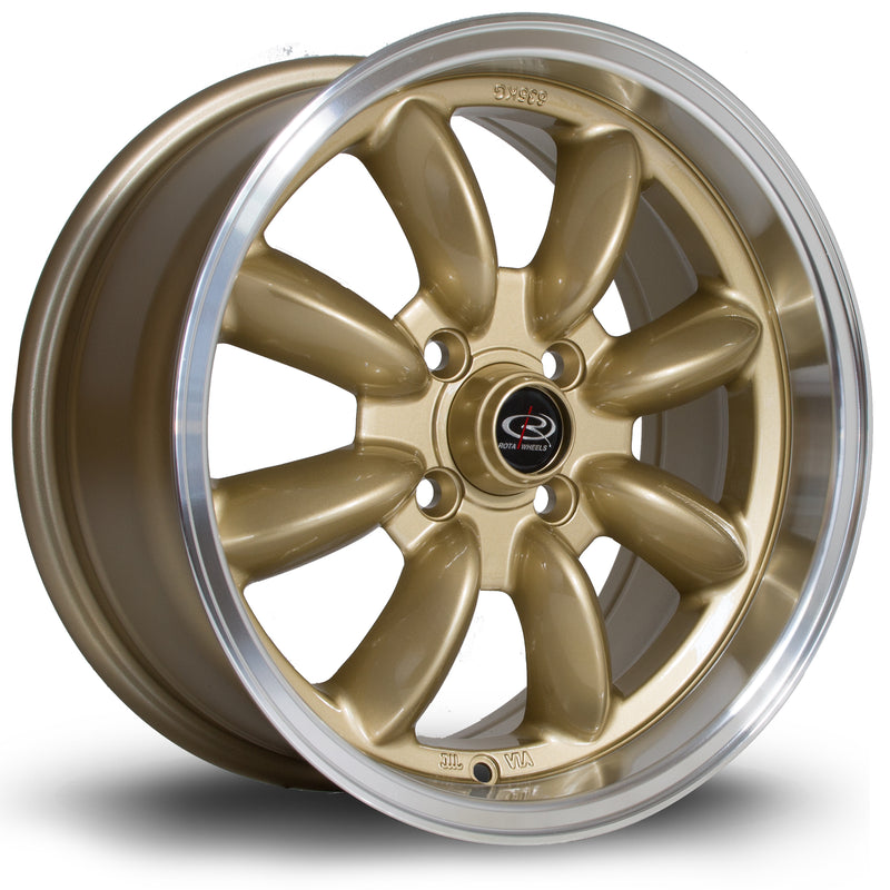 Rota RB, 15 x 7 inch, 4100 PCD, ET30 Gold Polished Lip - Rotashop
